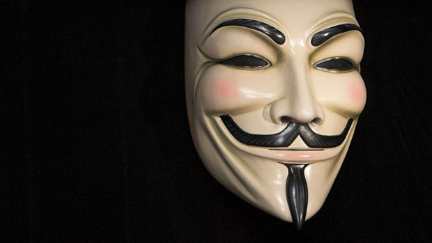 V for Vendetta: the man behind the mask.