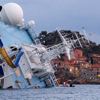 The sinking Costa Concordia (Reuters)