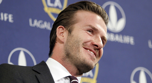 David Beckham announces he is re-signing with LA Galaxy for two years (Reuters.)
