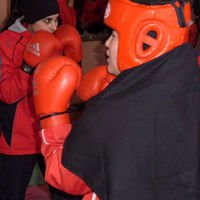Boxing in protection as well as scarves and hijab.