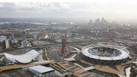 An aerial view of the London 2012 Olympic Park (Reuters.)