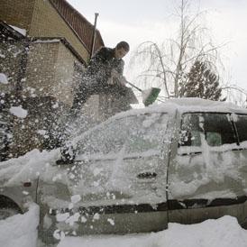 Snowy Car Kosovo