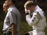 1999: After Mika Hakkinen crashed out of the Italian grand prix, emotion got the better of him and he hid in some bushes to weep. He went on to secure the world championship.