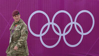 Soldiers guarding an Olympics venue (Getty)