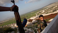 Syrian rebels have launched a series of ambushes on government forces