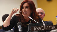 Argentina's President Fernandez at the U.N. headquarters in New York (Reuters)