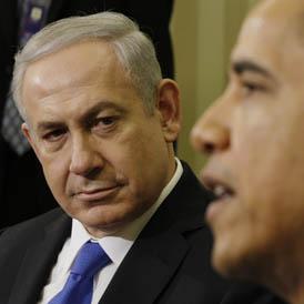 Israeli Prime Minister Binyamin Netanyahu warns President Barack Obama that