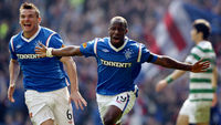 Rangers  went ahead after 11 minutes with Sone Aluko's goal