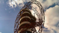 The arcelorMittal Orbit, designed for London 2012 by Anish Kapoor, is officially unveiled in London.