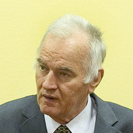 On the first day of a trial that could last three years, Ratko Mladic, the