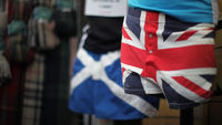 Underwear bearing the flags of Scotland and the UK (Getty)