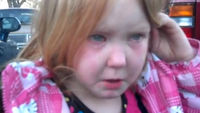 Four year old Abby Evans, whose tearful outburst over the US election went viral