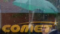 Ailing Electrical retailer Comet reopened as administrators searched for a buyer but customers hoping to use vouchers were disappointed. They have been temporarily suspended.