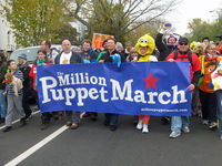 There weren't quite a million muppets, but over a thousand people turned up to protect their favourite shows.
