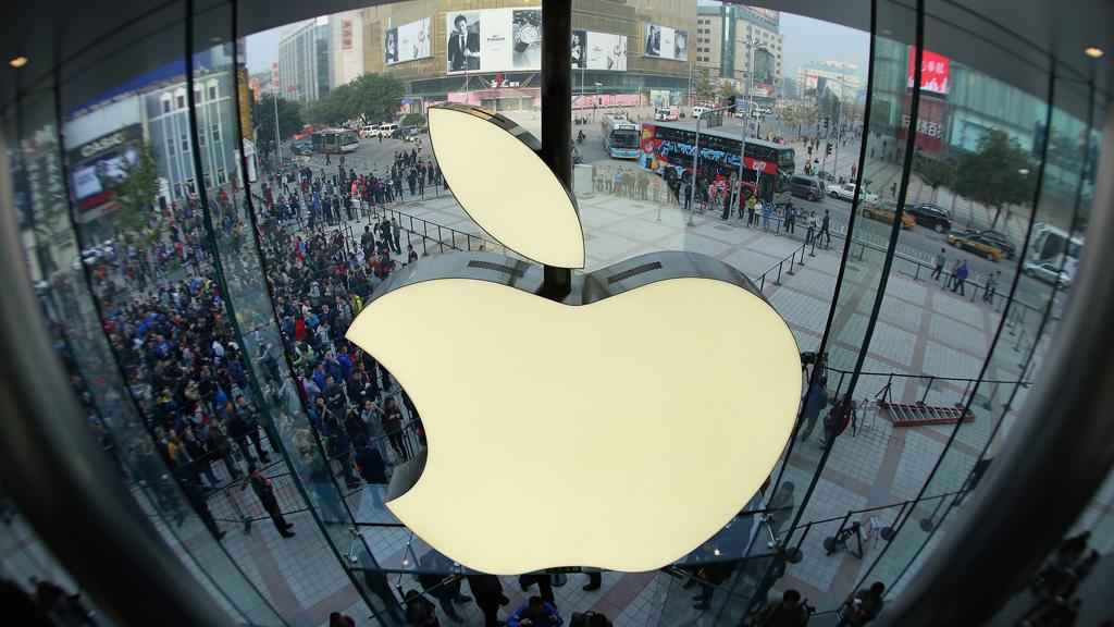 An Apple shop opening in Beijing (Getty)