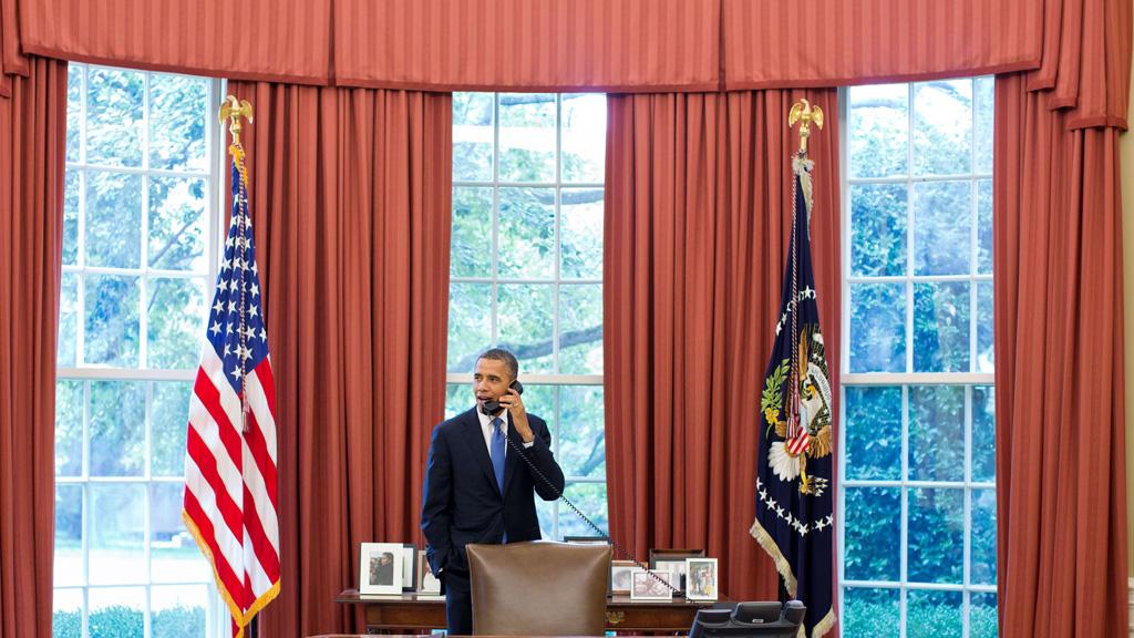 President Barack Obama in the Oval office