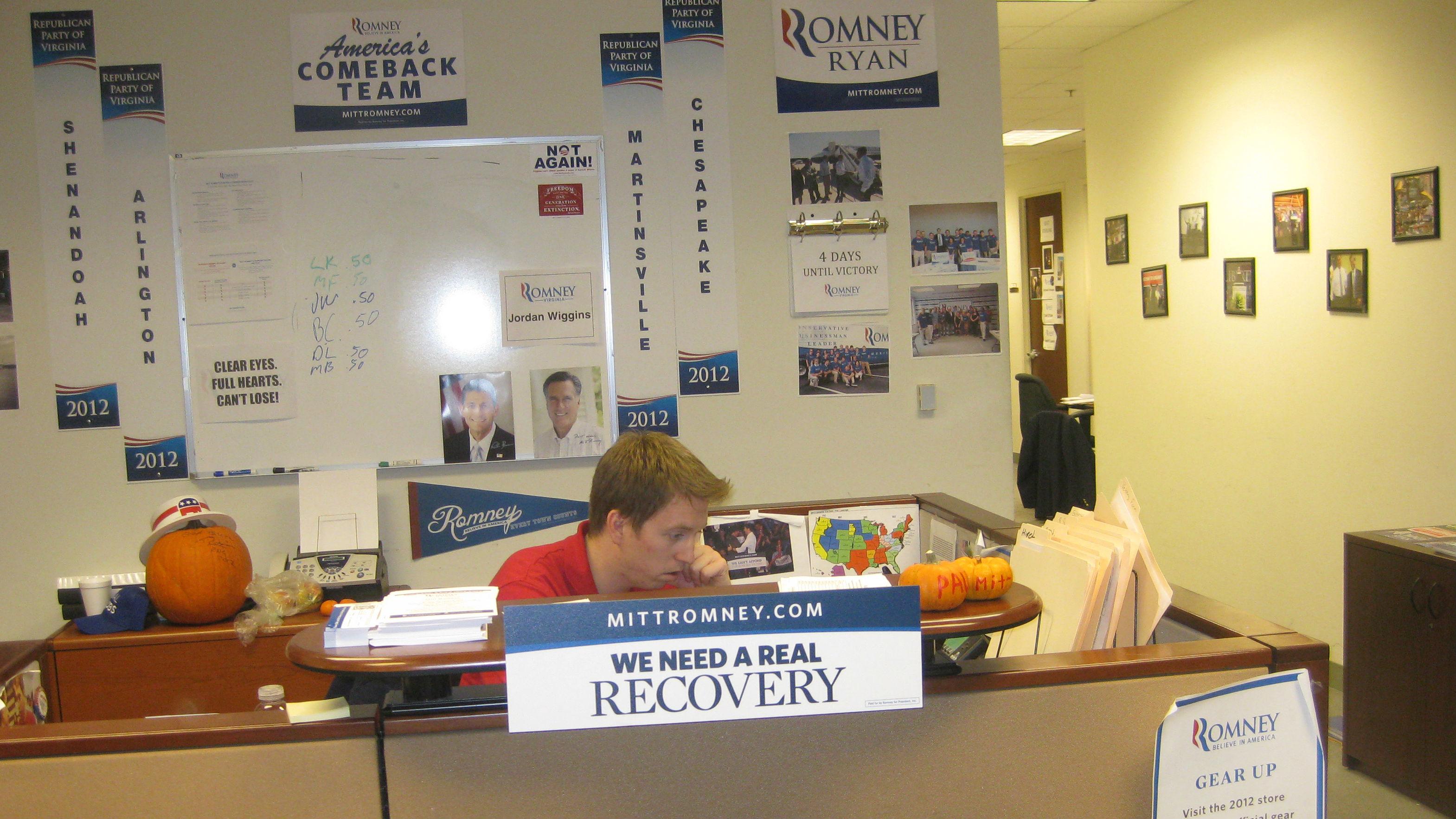 Romney volunteer office