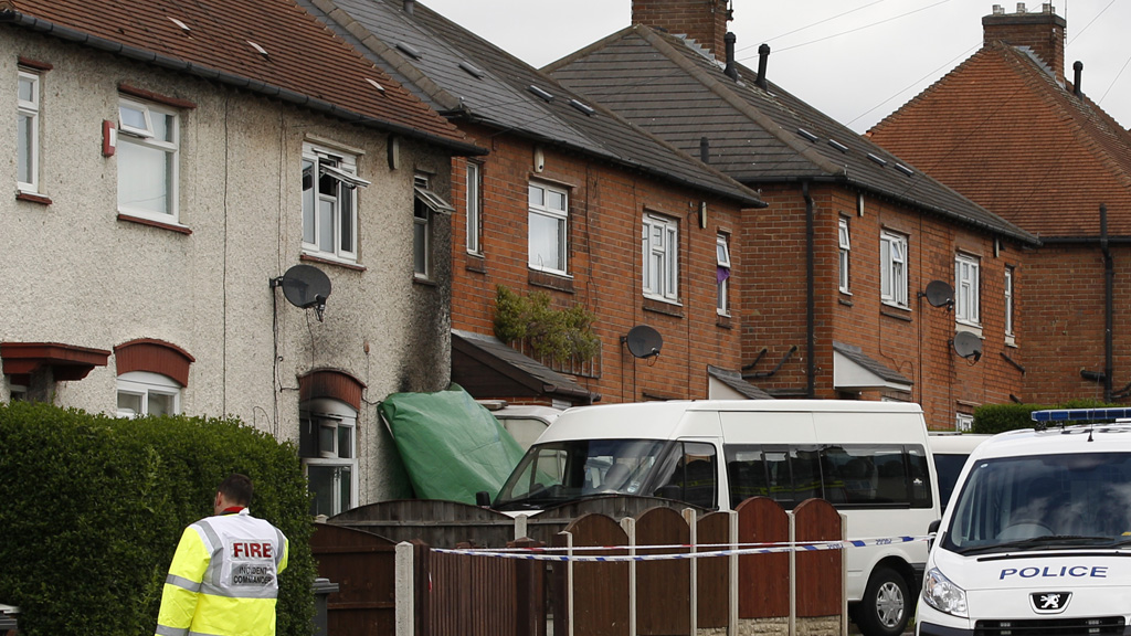 The house in Derby where six children died in a fire (Reuters)