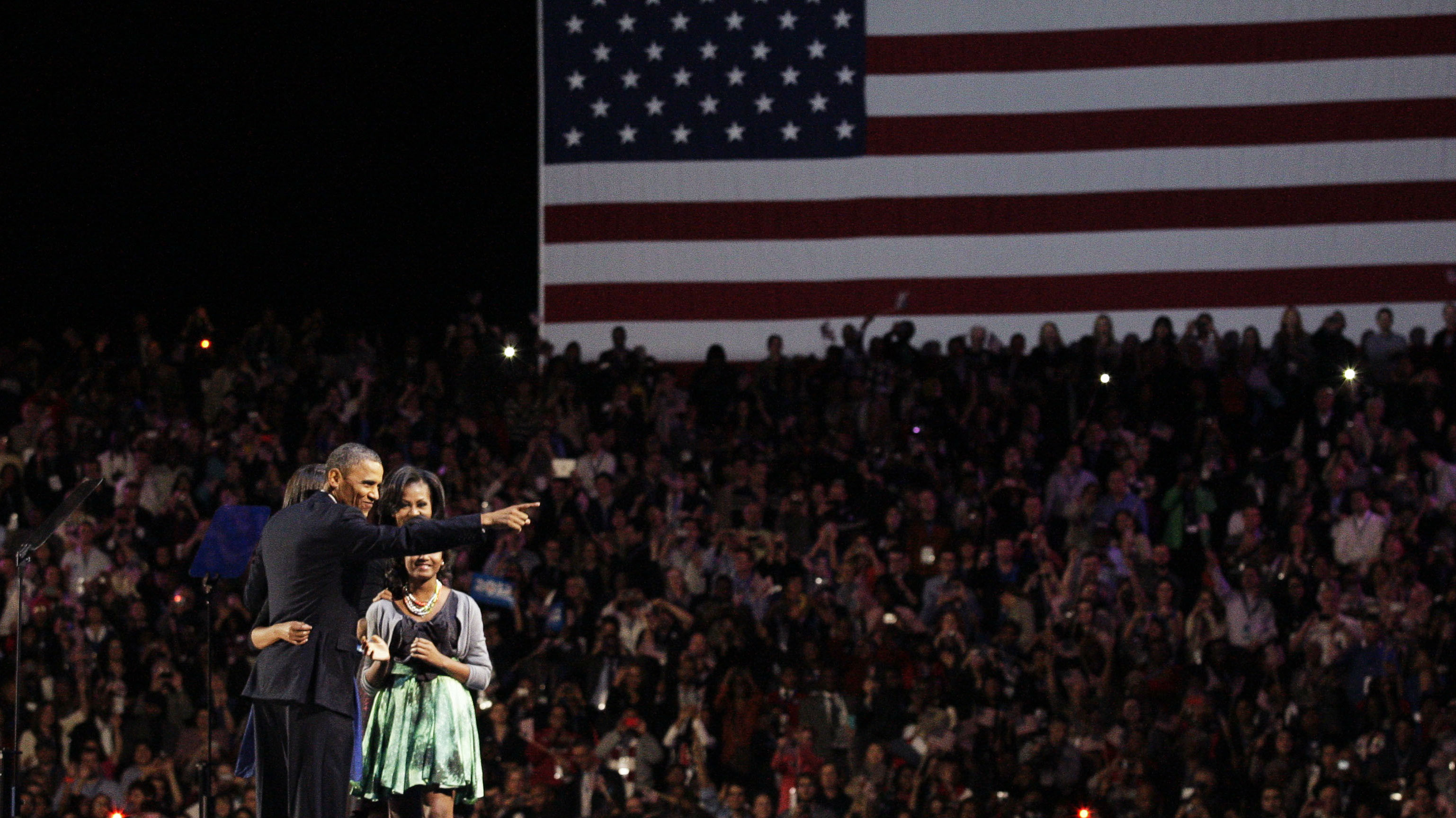 Obamas in Chicago (getty)