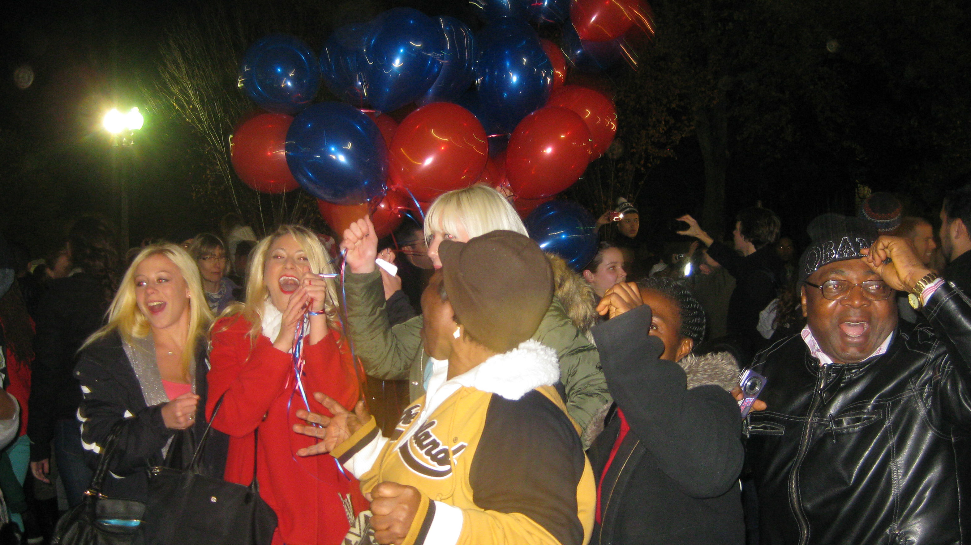 Celebrations outside white house