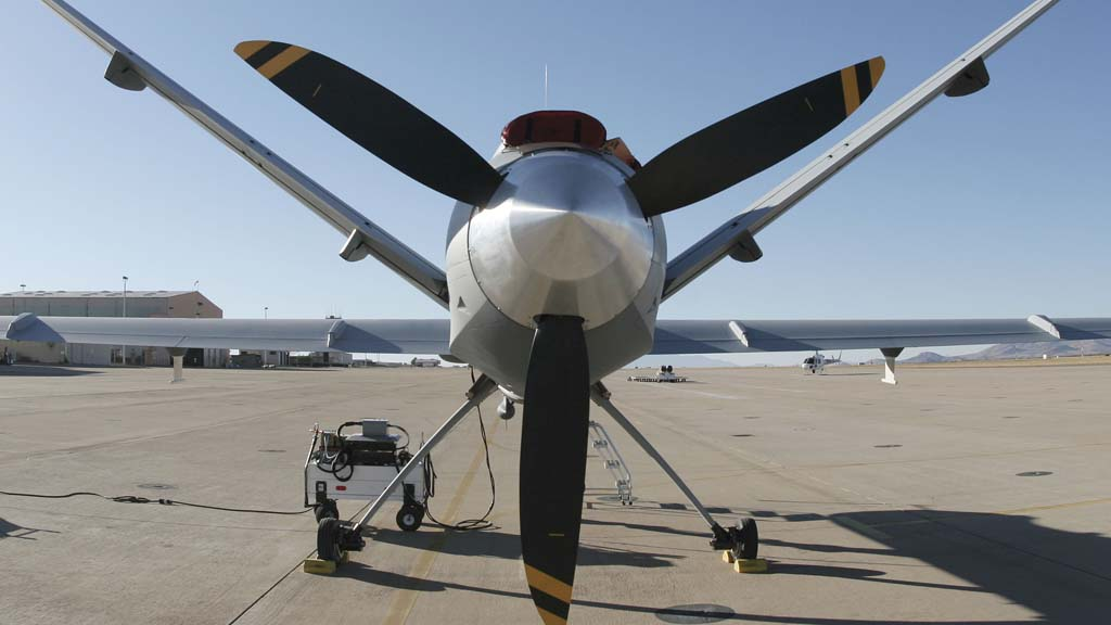 Iran fires at US drone in international airspace.
