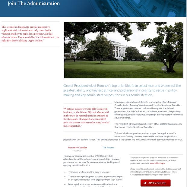 'President' Romney's website gaffe (Taegan Goddard of Political Wire)