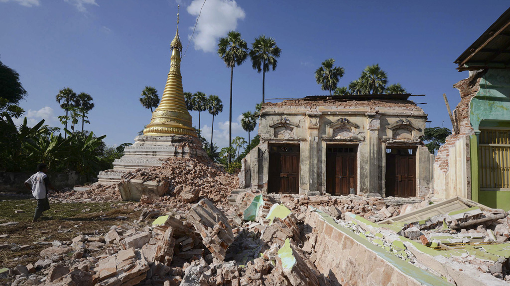 Pagoda in the village of Ma Lar, Myanmar (Reuters)