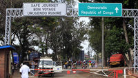 A border crossing between Rwanda and Democratic Republic of Congo (Reuters)