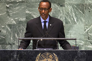Rwanda's President Kagame at the UN. (Reuters)