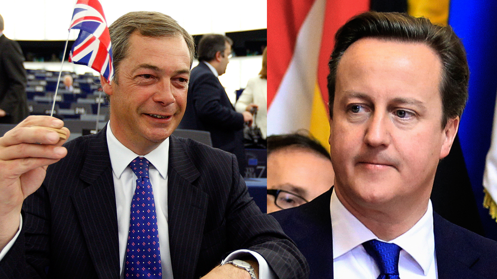 Farage and Cameron (Reuters)