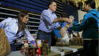 Romney at Ohio food drive