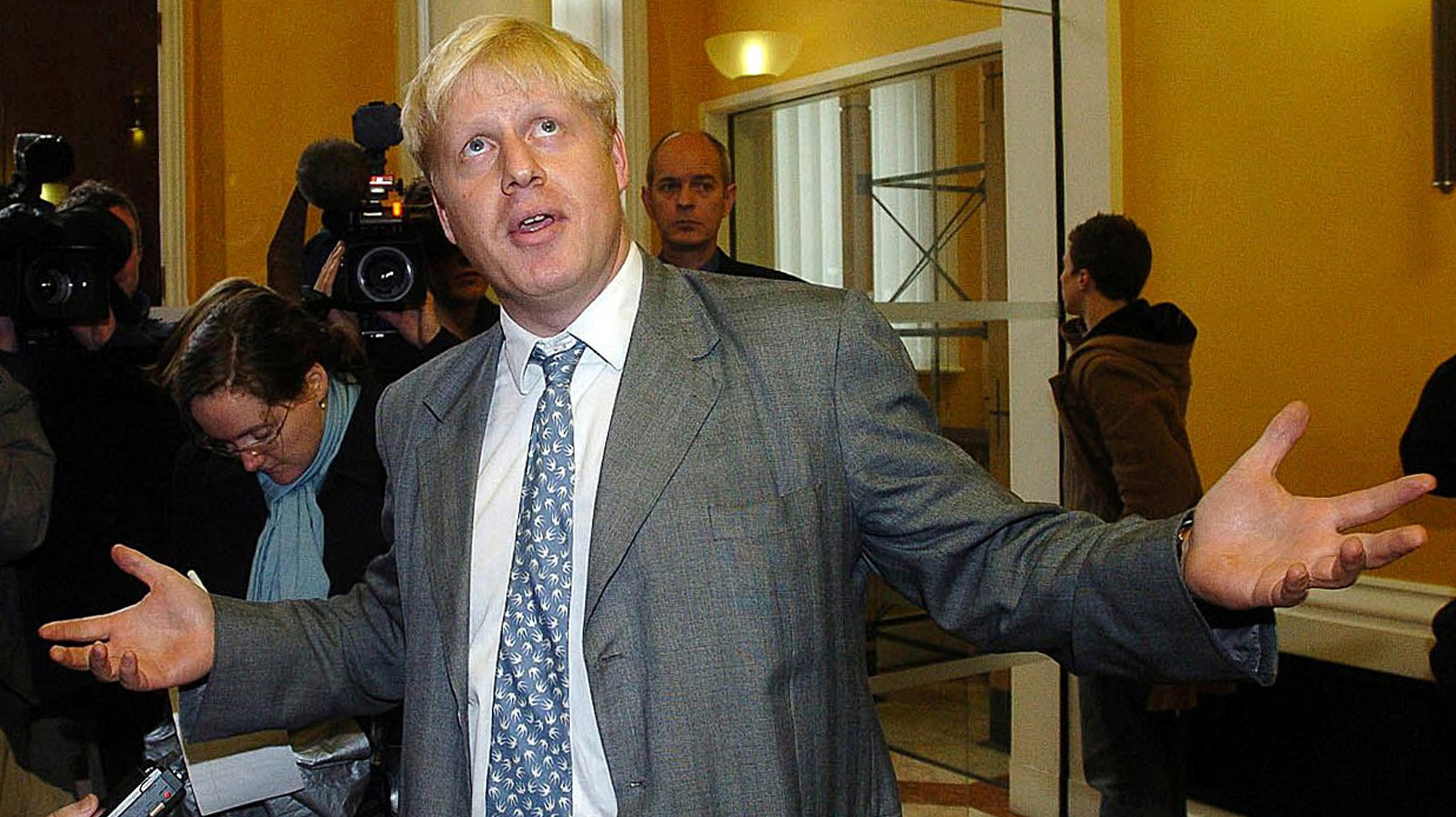 Boris Johnson visits Liverpool in 2004 (Reuters)