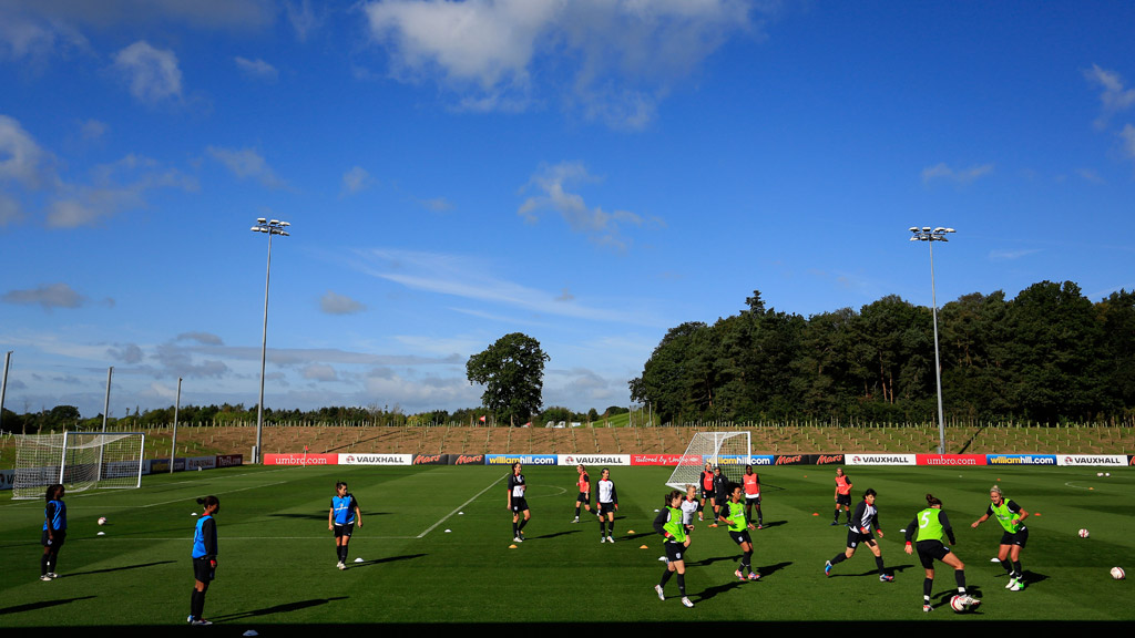 England's women's team were among the first to train at the new facilities in Burton