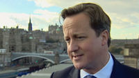 After signing an agreement to give Scotland a referendum on independence, Prime Minister David Cameron tells Channel 4 News