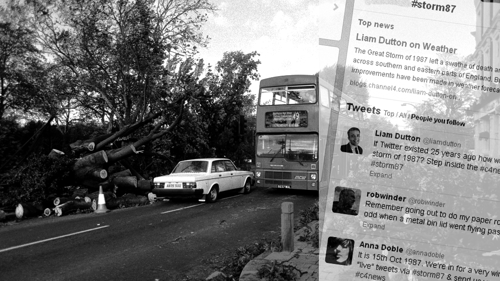 Great Storm 1987 in tweets.