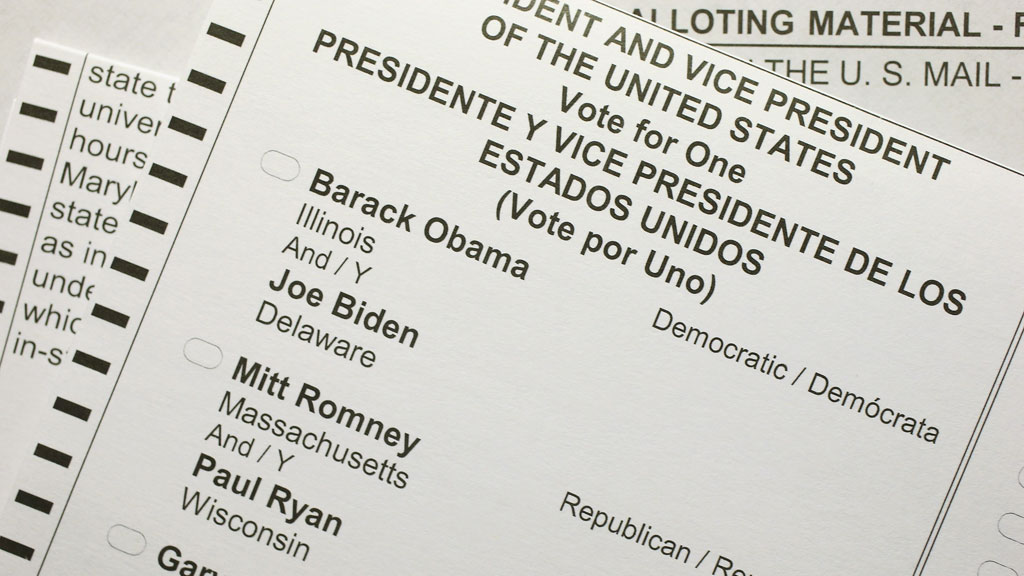 Presidential election ballot paper (getty)