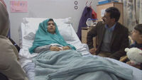 ala Yousafzai's family has visited her in hospital in Birmingham.