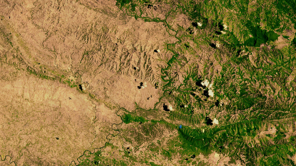 Nasa satellite picture of Haiti and the Dominican Republic