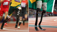 Pistorius (L) said Oliveira (R) had an unfair advantage (G)