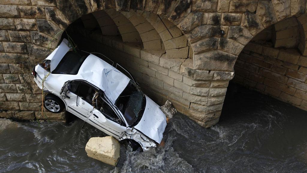 Crushed car in Malta