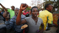 Striking miners at the Marikana plant in South Africa (Reuters)