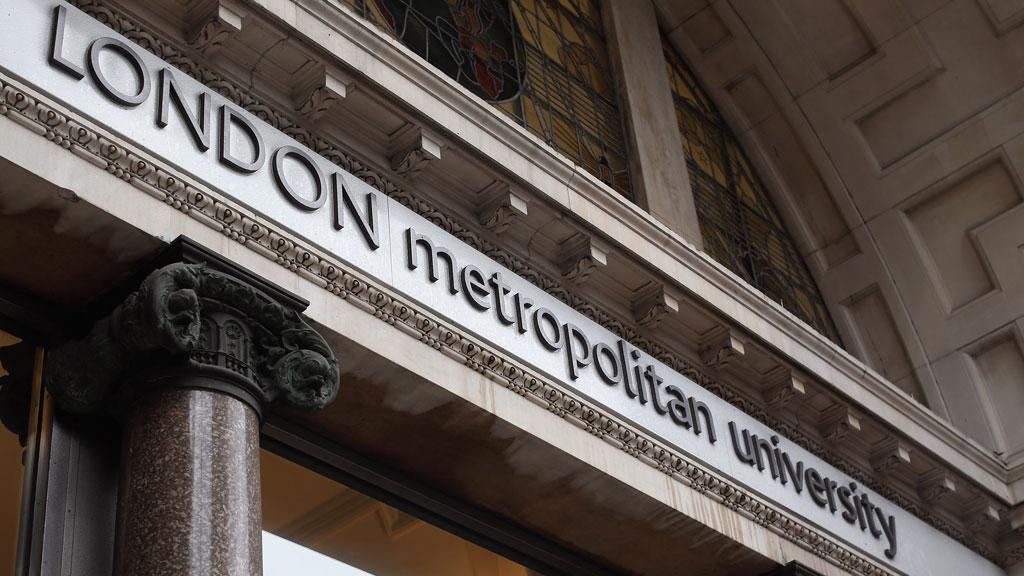 London Met university nameplate (getty)