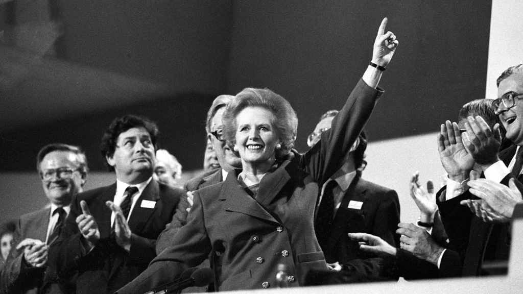 Prime Minister Margaret Thatcher at the 1989 Conservative Party Conference (Reuters)