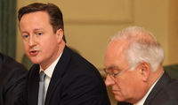 David Cameron and Michael Wilshaw (Getty)