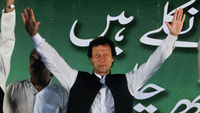 Imran Khan leads the anti-drone campaign in Pakistan. (Reuters)