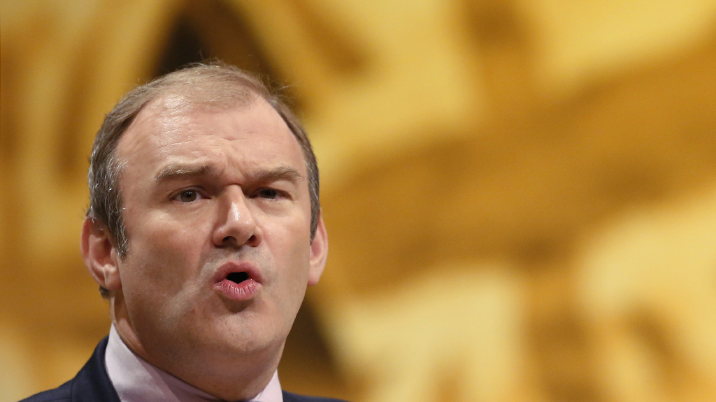 Ed Davey in conversation with Gary Gibbon (reuters)