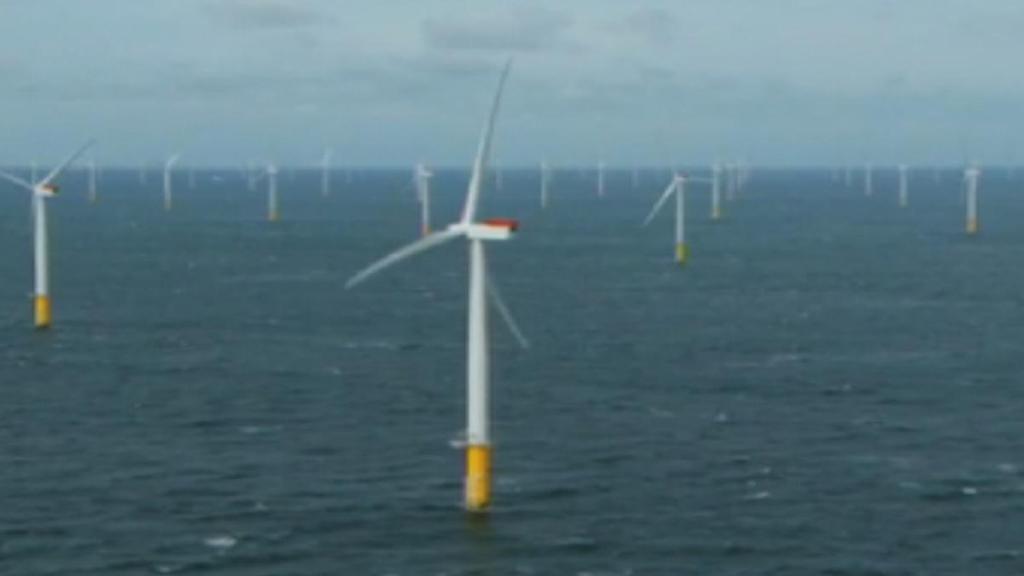 Sheringham Shoal windfarm, off the Norfolk coast (screengrab)