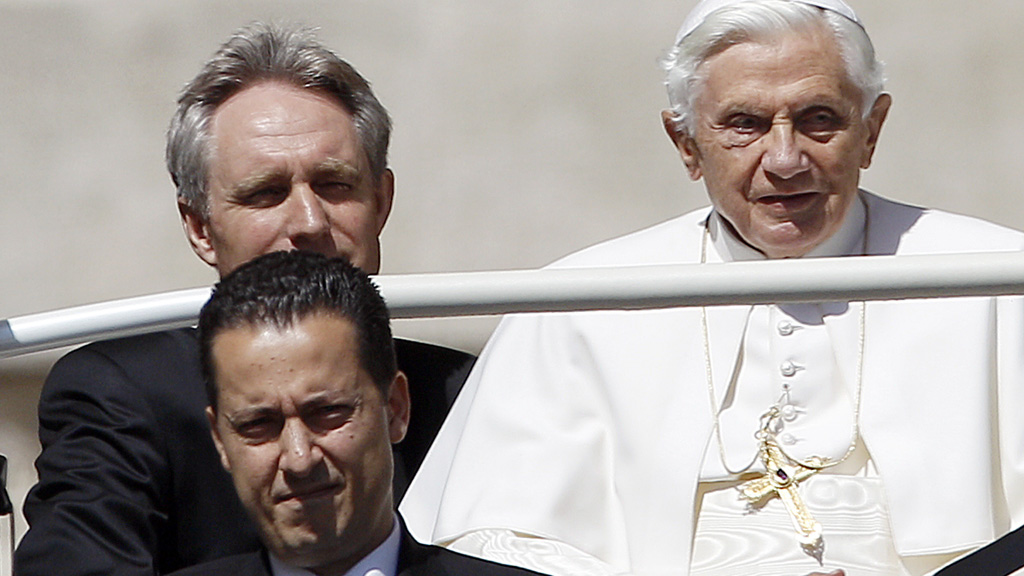 Pope Benedict and Paolo Gabriele (Reuters)