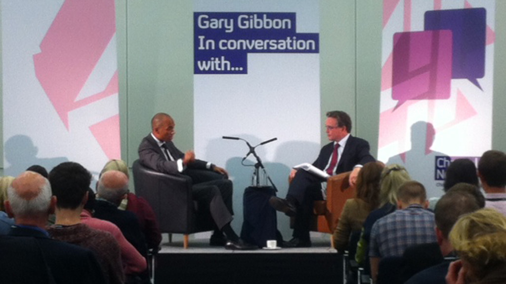 Gary Gibbon in conversation with Chuka Umunna