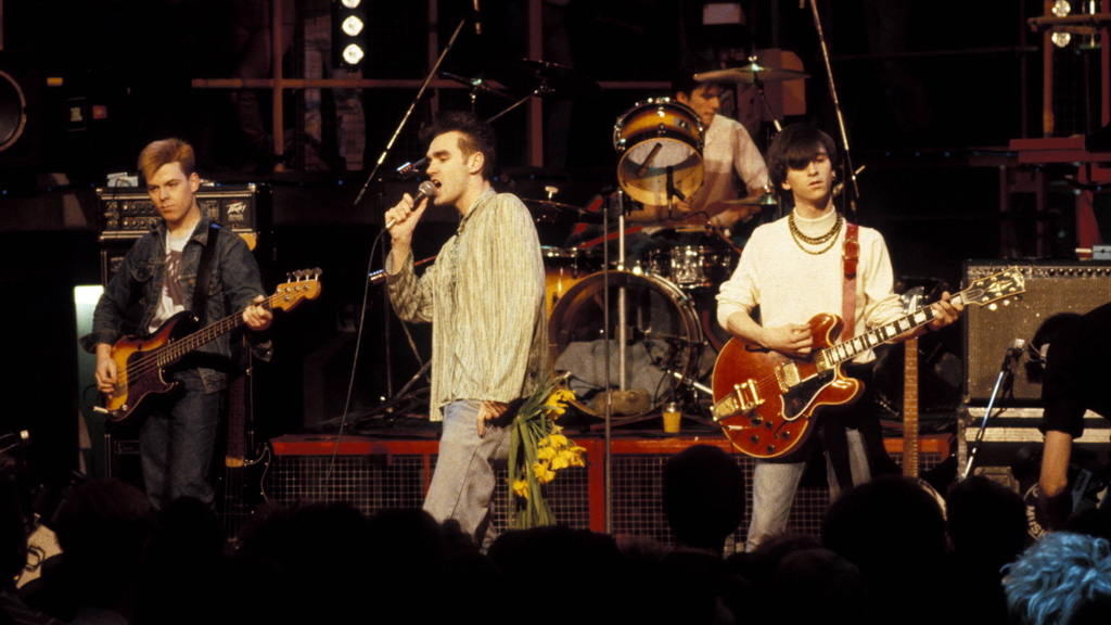 The Smiths performing in 1984. (Getty)